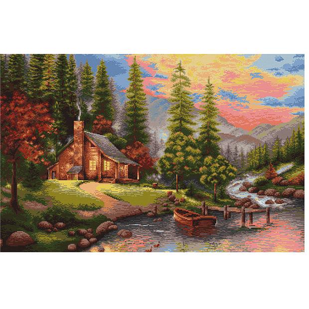 刺繍 輸入キット Luca-S(ルーカス) B451 Mountain Landscape