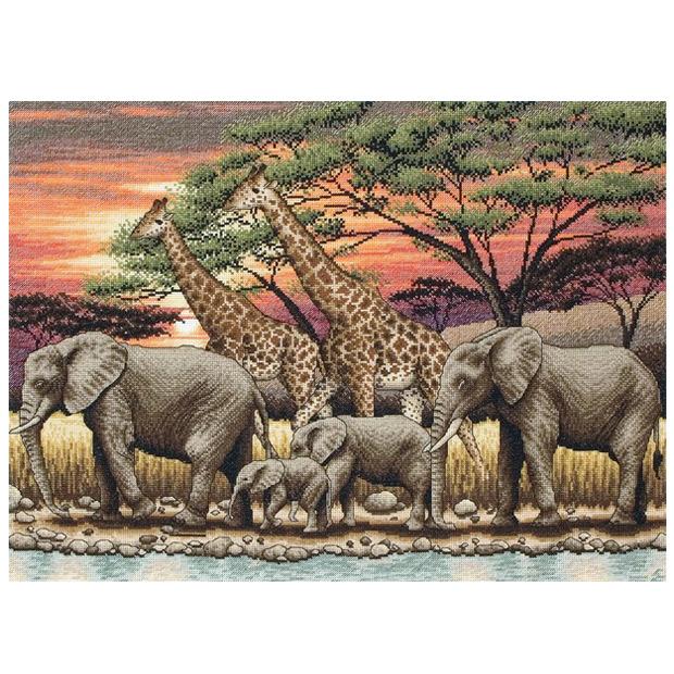 刺繍 輸入キット maia African Sunset