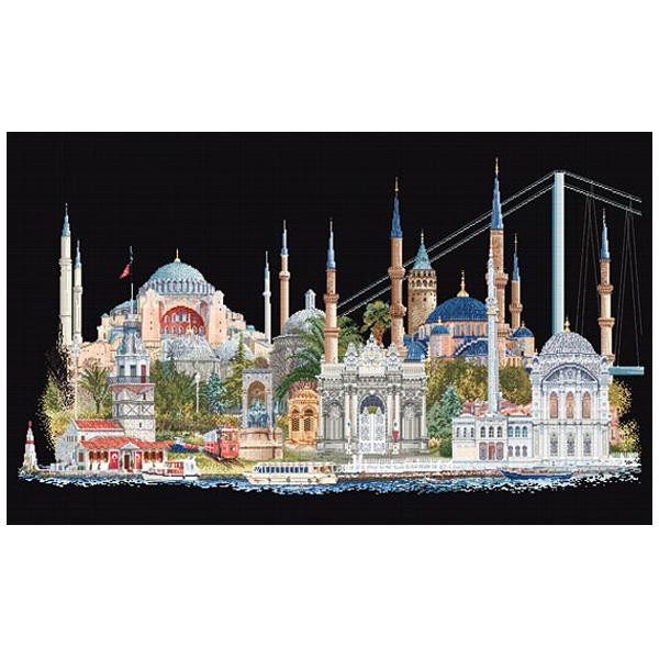 刺繍 刺しゅう輸入キット Thea GOUVERNEUR Istanbul(イスタンブール)Black Aida 479 05
