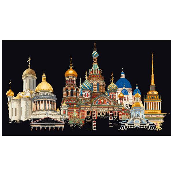 刺繍 刺しゅう輸入キット Thea GOUVERNEUR St.Petersburg(ぺテルスブルグ)Black Aida 430 05