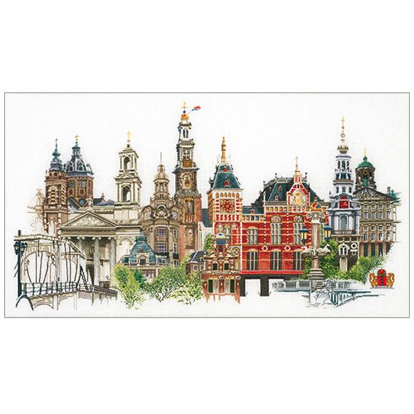 刺繍 刺しゅう輸入キット Thea GOUVERNEUR Amsterdam(アムステルダム)White Aida 450