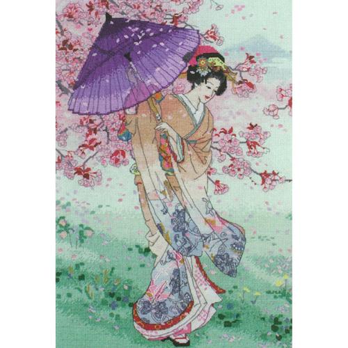 刺繍 刺しゅう輸入キット maia Yumezakura (Umbrella) 夢桜