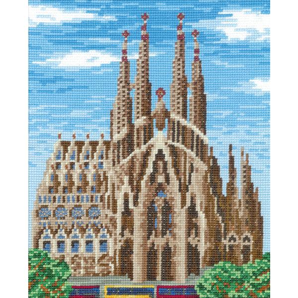 刺繍 刺しゅうキット オリムパス ワールドセレクション サグラダファミリア(スペイン)
