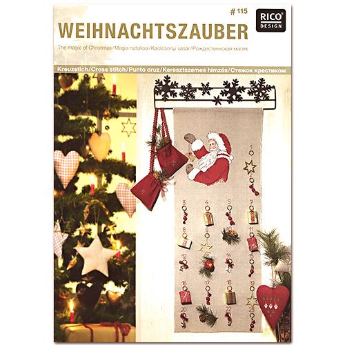 リコ ドイツ 図案集 クリスマス 図案 アウトレット クロスステッチ サンタ ツリー WEIHNACHTSZAUBER 刺しゅう図案集 115 RICO メール便可 お気にいる 刺繍 トナカイ