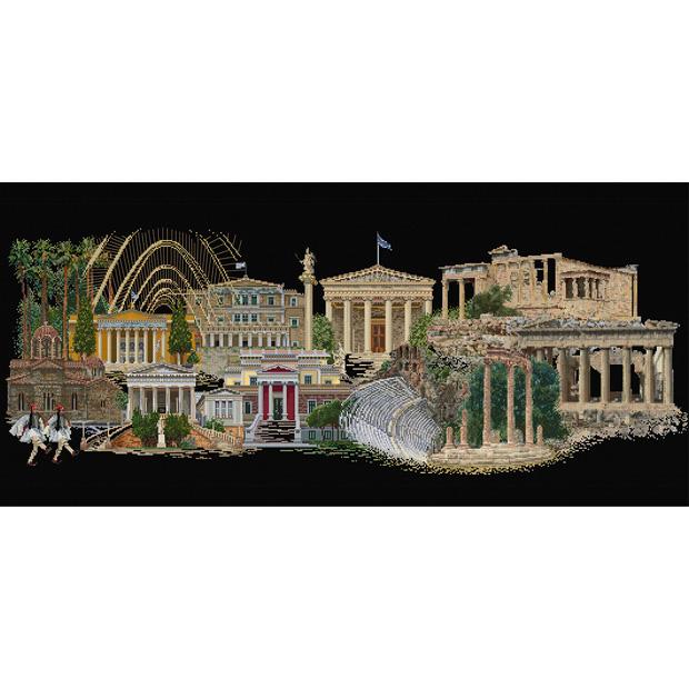 刺繍 刺しゅう輸入キット Thea GOUVERNEUR Athens(アテネ)Black Aida 545 05