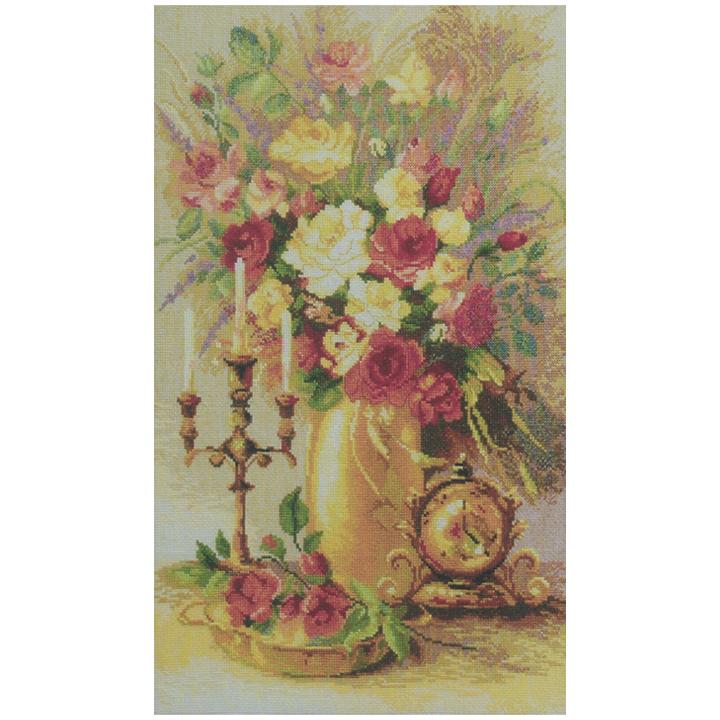 刺繍 Charivna Gold time Flowers 輸入キット