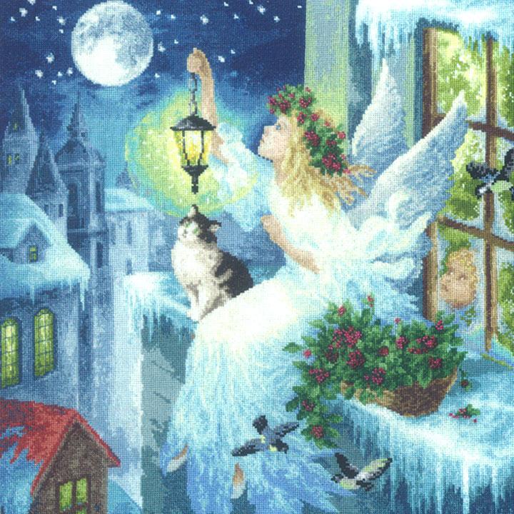 刺繍 Golden Fleece Winter fairy