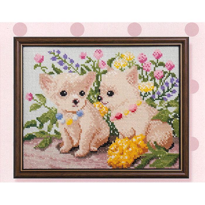 ●数量限定 処分品 訳アリ Dog and Flower(クロスステッチキット) チワワ NO_718 (ネコポス可)