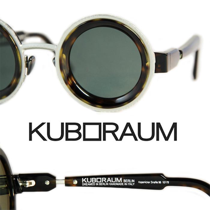 KUBORAUM Sunglasses[z3ts2]/クーボラウム ラウンド型 サングラス べっ甲柄のアセテートとメタルのコンビネイションフレーム UVカット メンズサングラス レディースサングラス