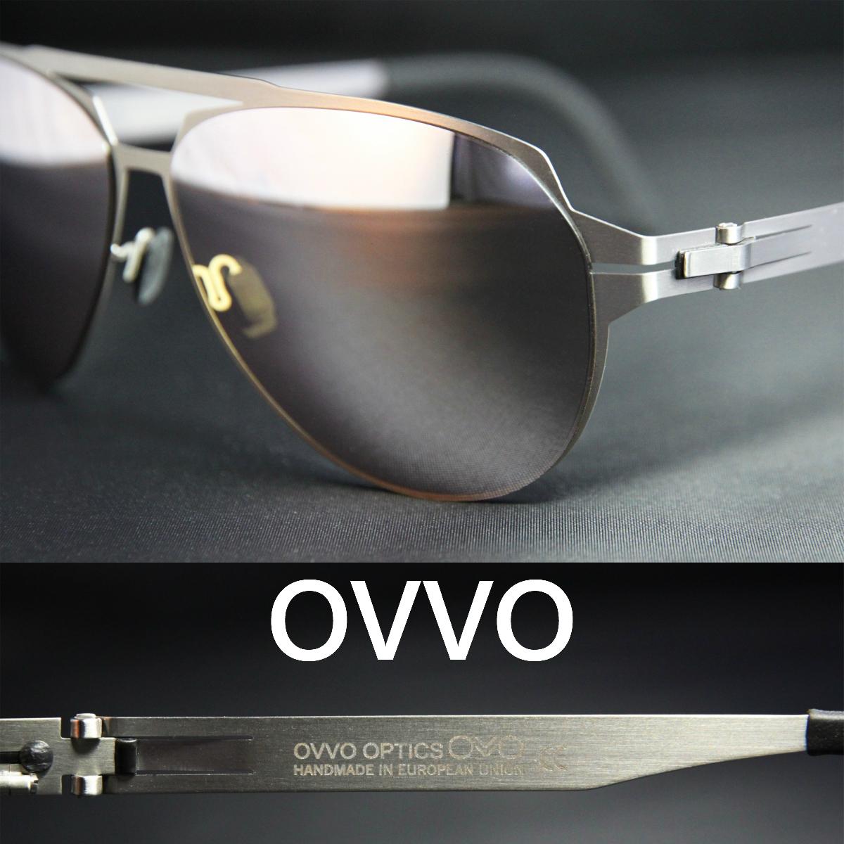 OVVO Sunglasses Titanium70/アビエーター ティアドロップ型 オッヴォ サングラス チタンフレーム ミラーレンズ UVカット メンズサングラス レディースサングラス