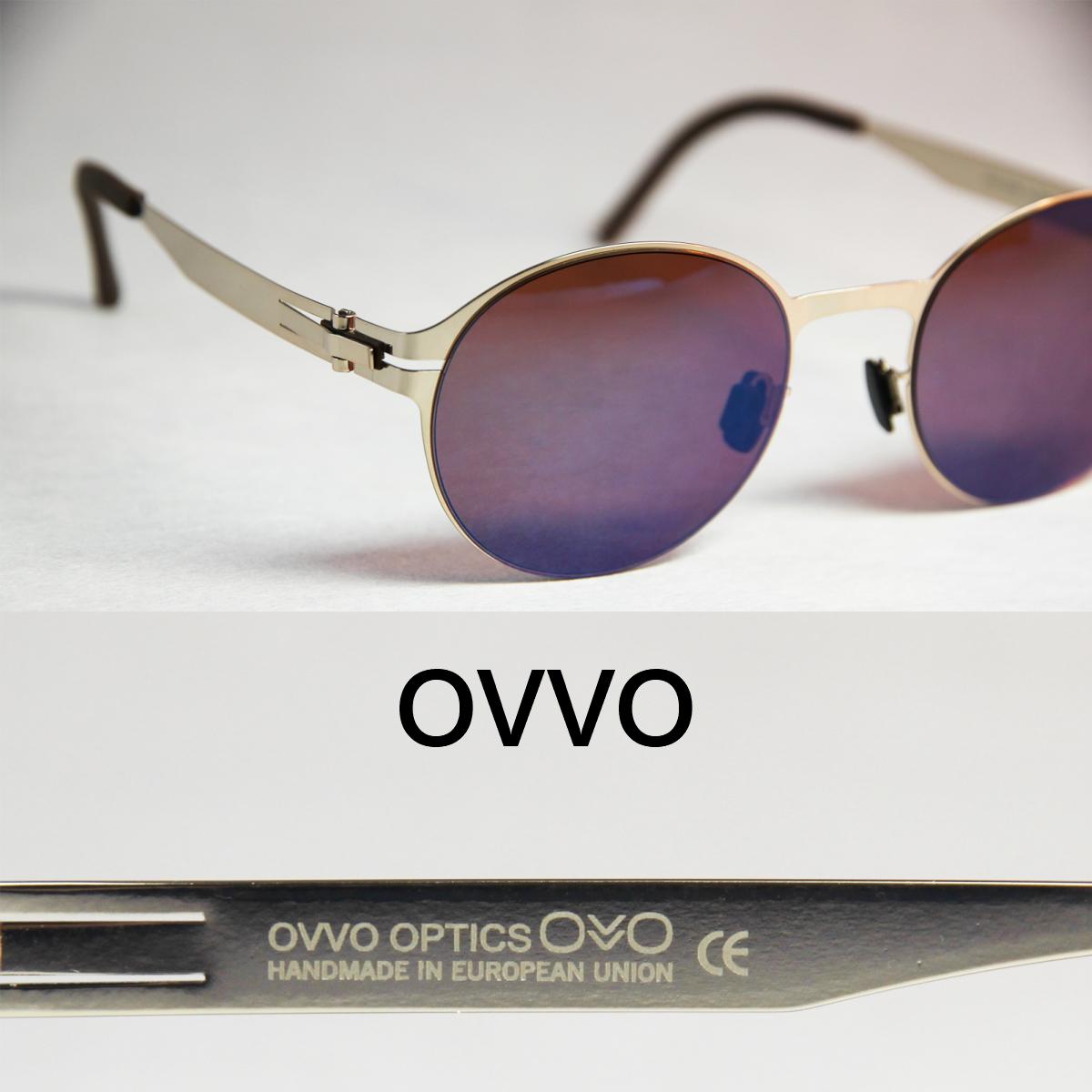 Ovvo mia gold/オッヴォ、ミアゴールド オーバル ボストン型 UVカット レディースサングラス 驚異の素材