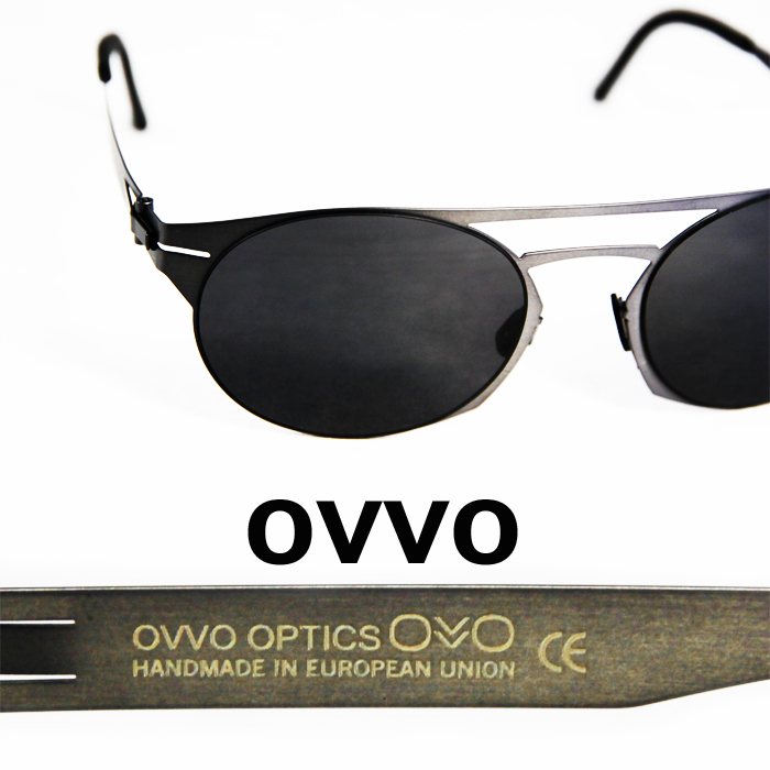 OVVO Sunglasses Atras Black/オーバル型 オッヴォ サングラス アトラス ブラック 黒  UVカット メンズサングラス レディースサングラス