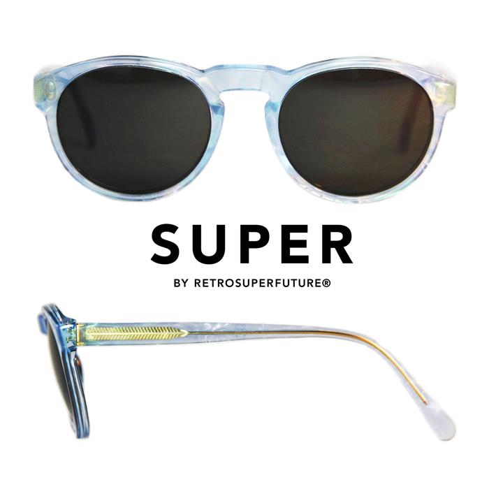 スーパーSUPER Sunglasses Paloma Pool [KKSEE7N]ボストン型 サングラス パロマプール Light Blue 水色  UVカット メンズサングラス レディースサングラス