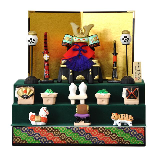 【五月人形】兜飾り三段セット!【D403】【新作】【秀光】【限定品】【楽ギフ_のし】