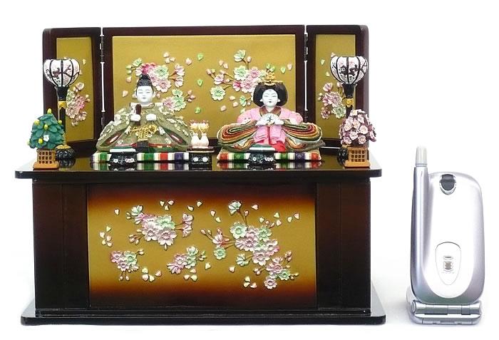 【雛人形】【E049】 極彩 陶器親王雛飾りセット【ひな人形】【新作】【秀光】【限定品】【楽ギフ_のし】【smtb-u】