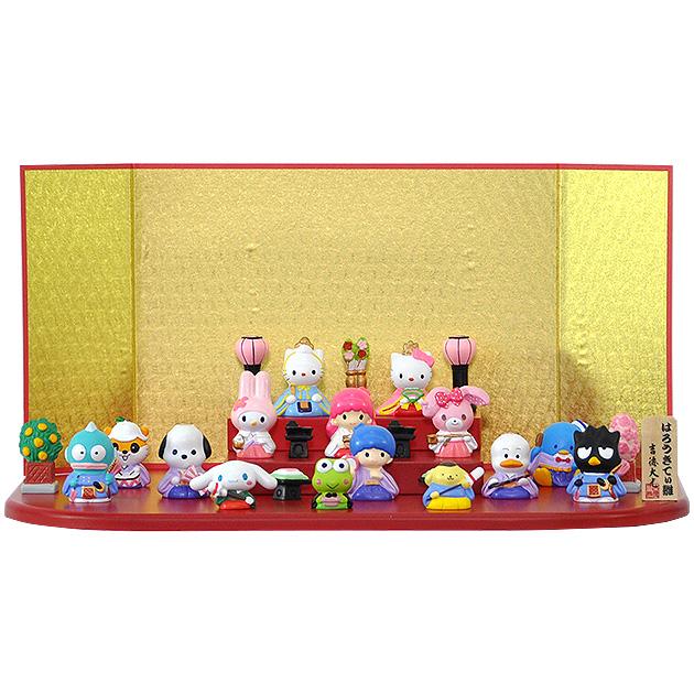 節句 雛人形 ひな人形 ミニ雛 段 お祝い キャラクター おひなさま E910 ハローキティ雛 段十五人飾り 吉徳 楽ギフ_のし