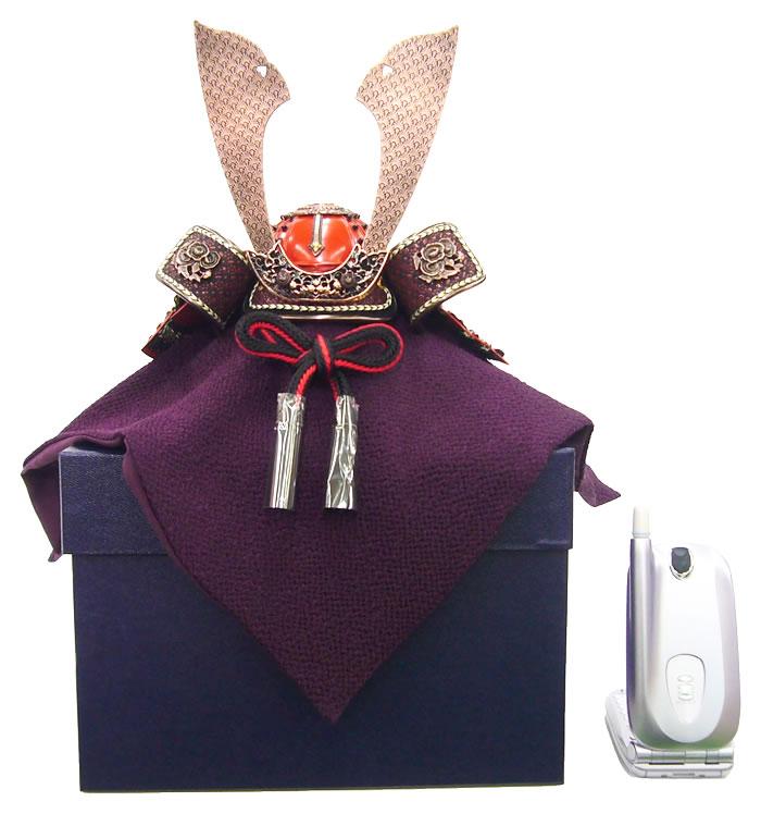 【五月人形】【兜】【G003】ブロンズミニ兜6号飾り箱付き【秀光】【新作】【限定品】【楽ギフ_のし】
