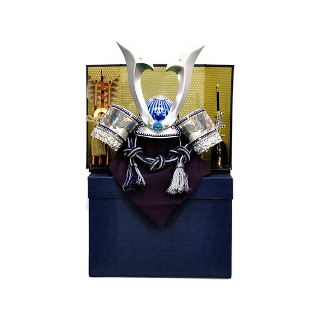 【五月人形】【兜】【G134】青竜ミニ兜10号 屏風・弓太刀付き【秀光】【新作】【限定品】【楽ギフ_のし】