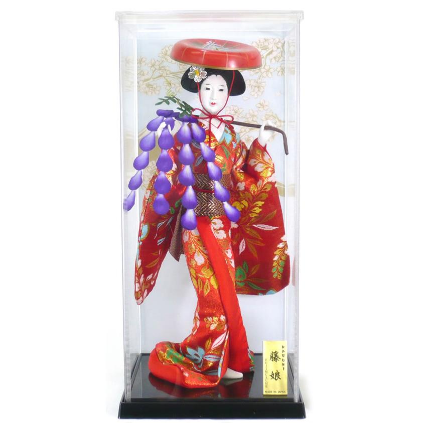【早割キャンペーン全品P10倍以上12/31まで】【日本人形】【J011】日本人形5号ケース入り【藤娘】【ひな人形】【秀光】【限定品】【楽ギフ_のし】