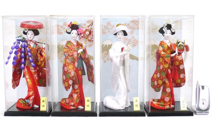 【日本人形】【J035】日本人形5号ケース入り4個フルセット【新作】【秀光】【限定品】【楽ギフ_のし】【smtb-u】