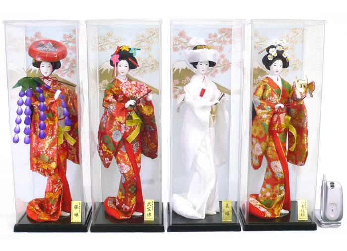 【日本人形】【J036】日本人形6号ケース入り4個フルセット【新作】【秀光】【限定品】【楽ギフ_のし】【smtb-u】