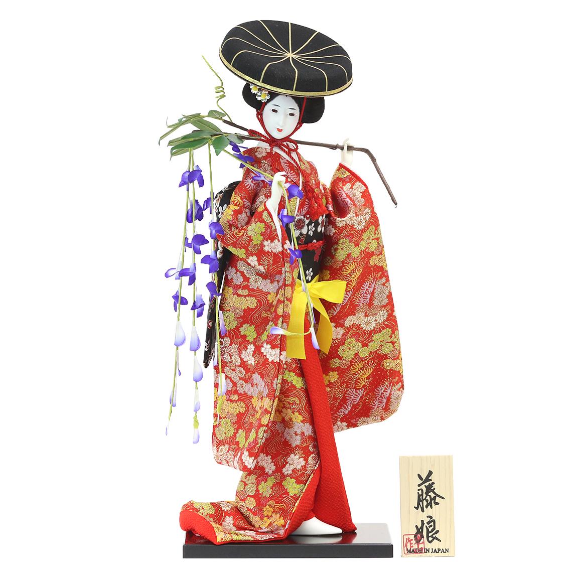 【日本人形】【J019】日本人形10号【藤娘】【新作】【秀光】【限定品】【楽ギフ_のし】