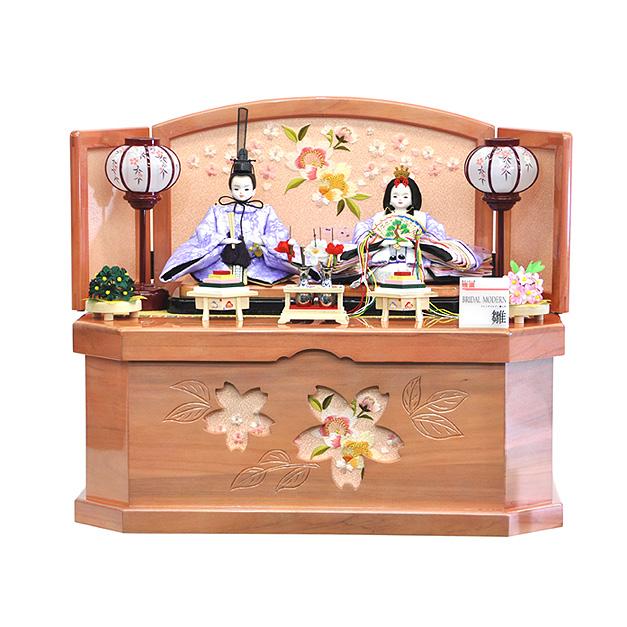 雛人形 ひな人形 お雛様 おひなさま かわいい 手作り 2020年 新作 秀光 限定品 送料無料 コンパクト ミニ 初節句 ひな祭り 収納 二人 2人 刺繍 桜 さくら買得 お得 人気 ランキング P85211
