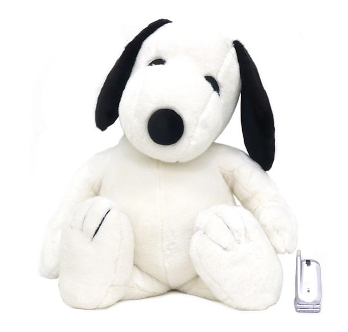 【N128】ぬいぐるみスヌーピー スタンダード 2L ピーナッツのビーグル犬SNOOPY【秀光】