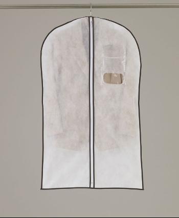 大切な洋服の長期保管ならコレ 機能的でシンプルな洋服カバー 通気性の良い不織布製 スーツやジャケット用 特価キャンペーン センターファスナーカバー S 3枚入 クローゼット収納 洋服カバー 衣装カバー 送料無料カード決済可能 衣類カバー 衣類収納 衣替え☆