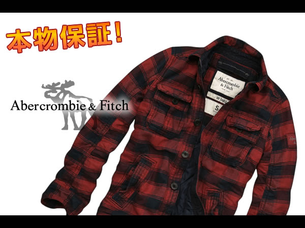 Abercrombie & Fitch mens jacket outerwear JAY RANGE red S M L XL Rakuten Super SALE! Super Sale! maximum point 15 times! More than 10,800 yen. Cool gifts too! Large size is!