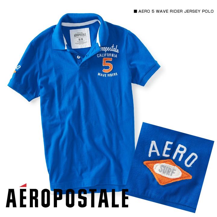Aeropostale mens short sleeve polo shirt AERO 5 WAVE RIDER JERSEY POLO  active (2240) S M L XL lucky5days more than 10 a3b708e0d