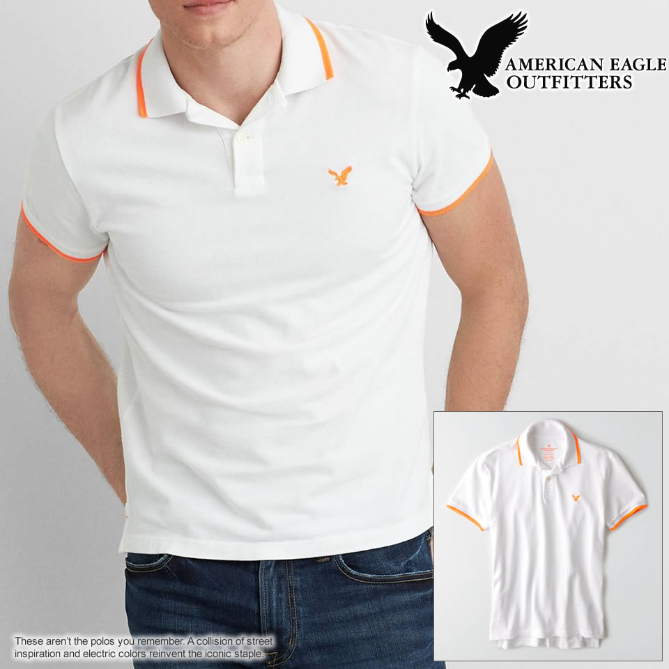 511bcf13 (1165-8290) American Eagle mens short sleeve polo shirt AEO SOLID POLO  white polo shirt S M L XL XXL lucky5days more than 10,800 yen.