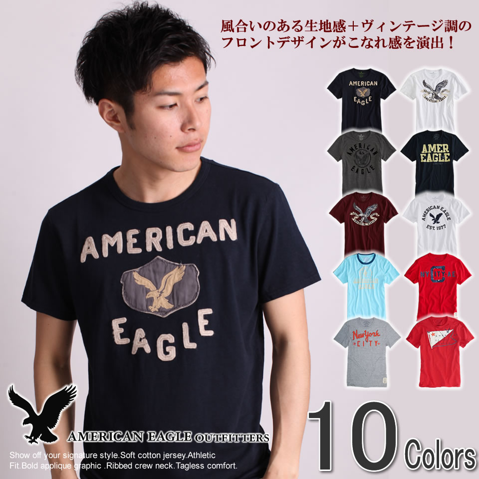ef8302b0 American eagle men short sleeves T-shirt AE SIGNATURE GRAPHIC T (ten colors  of ...
