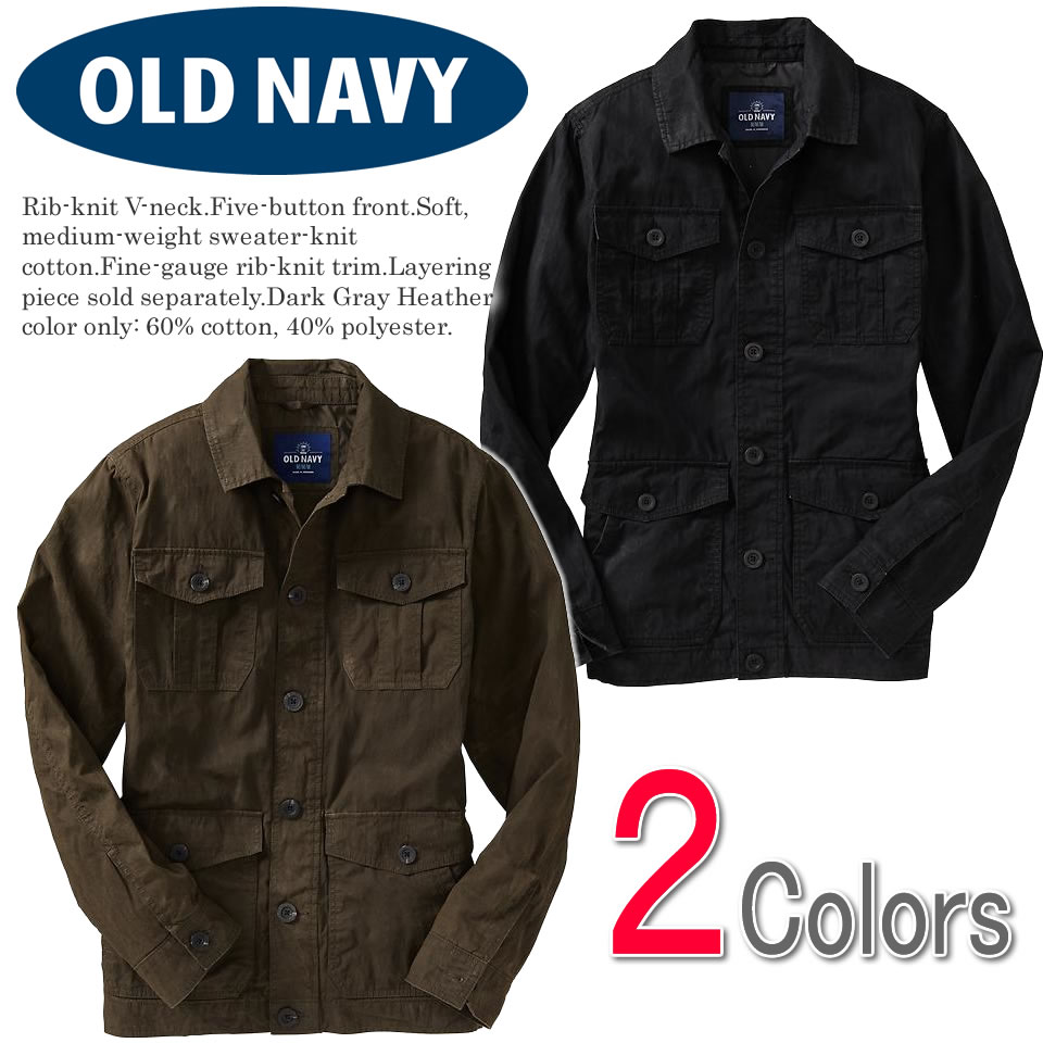 78605b282c8 Old navy men military jacket Men s Utility Button-Front Canvas Jackets  (920581) (S