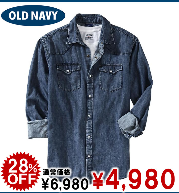 707638c83c shushubiz  Old navy denim shirt Men s Denim Western Shirts ウォーン ...