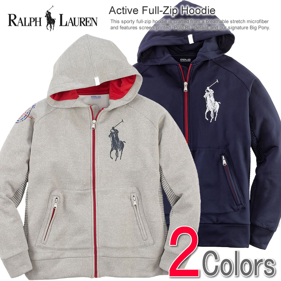 ac107b927ad0 Polo Ralph Lauren Boys parka Active Full-Zip Hoodie (two colors) (POLO RALPH  LAUREN)(23946766)(S