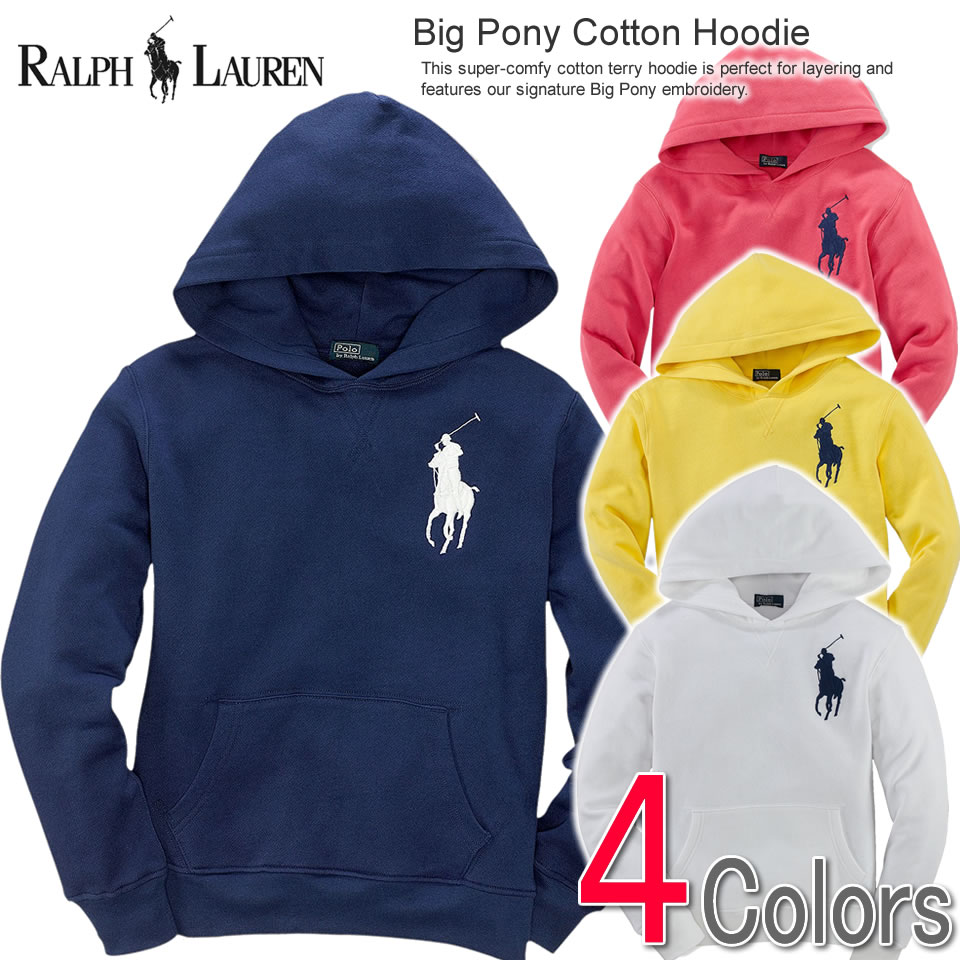 For spring coordinates! Polo Ralph Lauren Boys parka Big Pony Cotton Hoodie  (four colors) (POLO RALPH LAUREN)(28323476)(S,M,L,XL)(100 % genuine  article, ... b70784439f