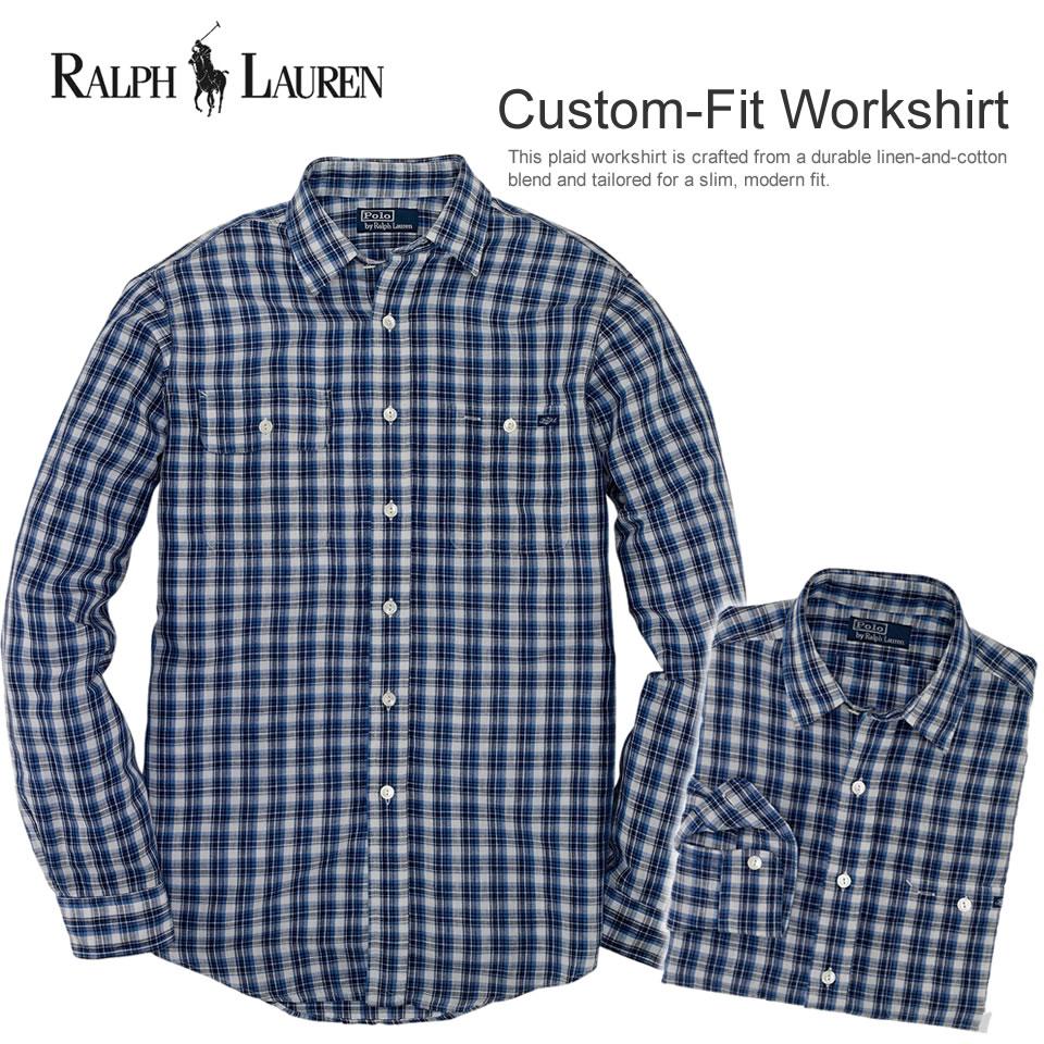 Shushubiz Polo Ralph Lauren Men Long Sleeves Casual Shirt Custom