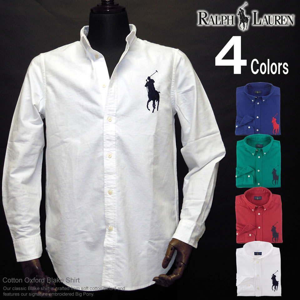 66b4522c9 Polo Ralph Lauren Boys long sleeves Oxford shirt Big Pony Cotton Oxford  (four colors) ...