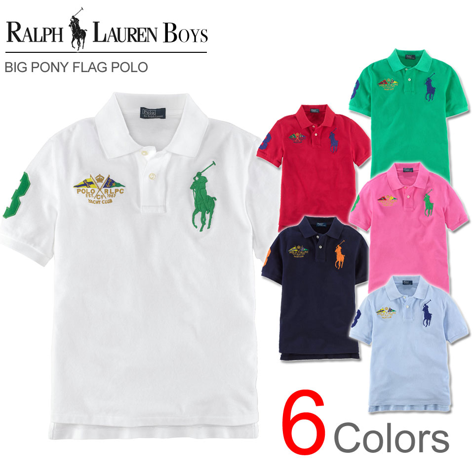 Rakuten champions sale, victory Memorial ????? Ralph Lauren boys big pony  flag short sleeves polo ...