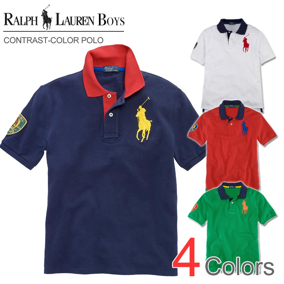 0fd77f0a The best Rakuten in Japan sale, all Japan's commemorative sale polo Ralph  Lauren Boys big pony short sleeves polo shirt Big Pony Contrast-Collar Polo  ...