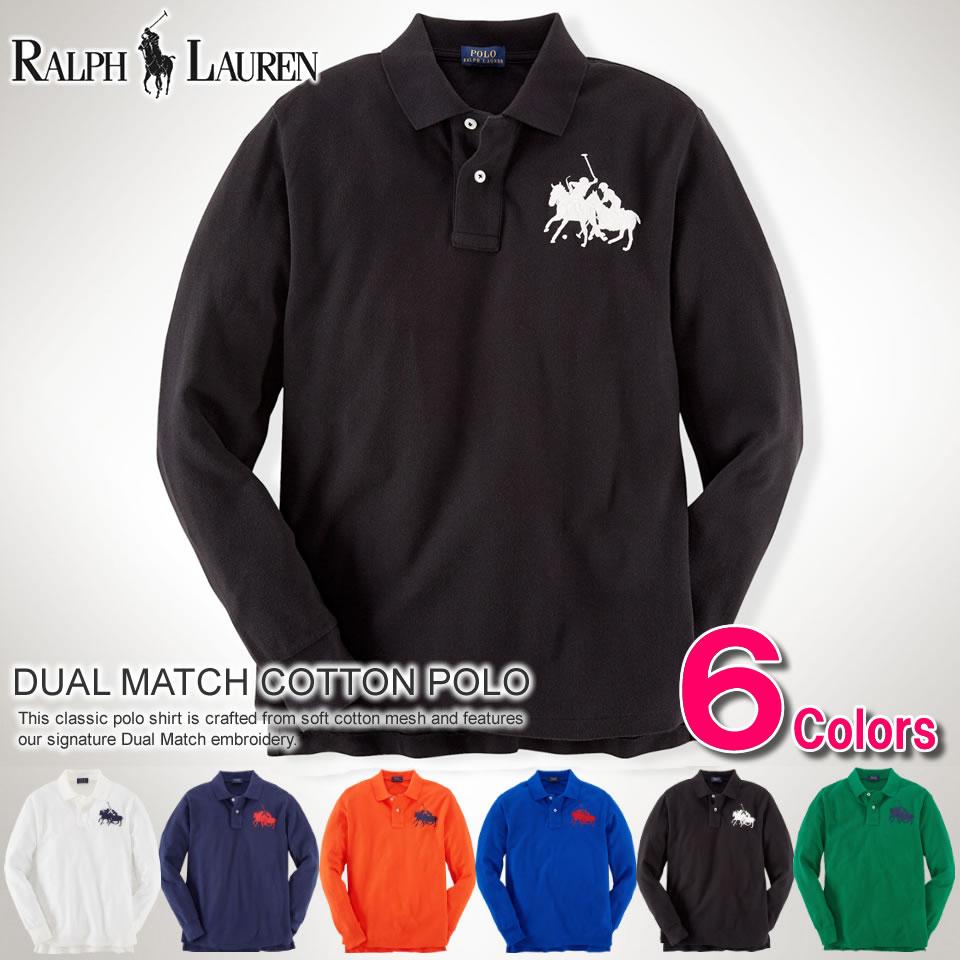 2014 New Fall Polo Ralph Lauren Mens Long Sleeve Polo Shirt Dual Match Cotton Polo 6 Colour Polo Ralph Lauren 43535186 L Xl Rakuten
