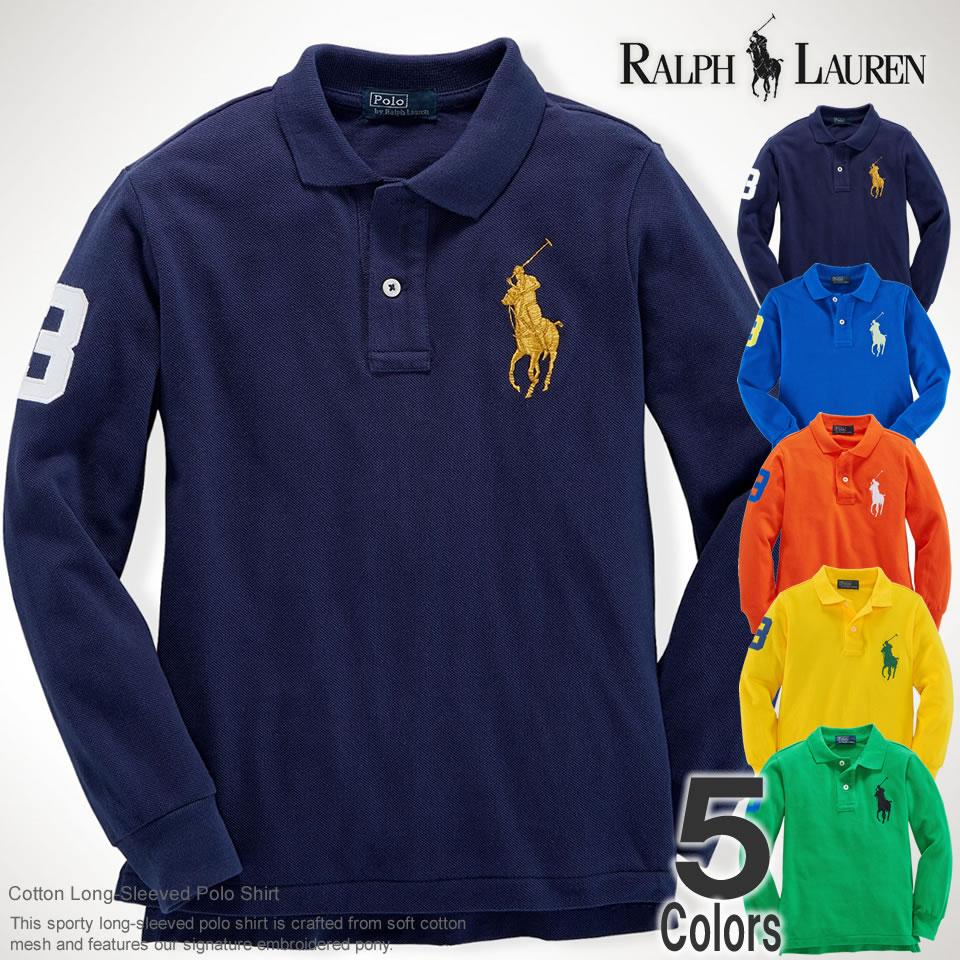 Shushubiz Five Colors Of Polo Ralph Lauren Boys Long Sleeves Polo
