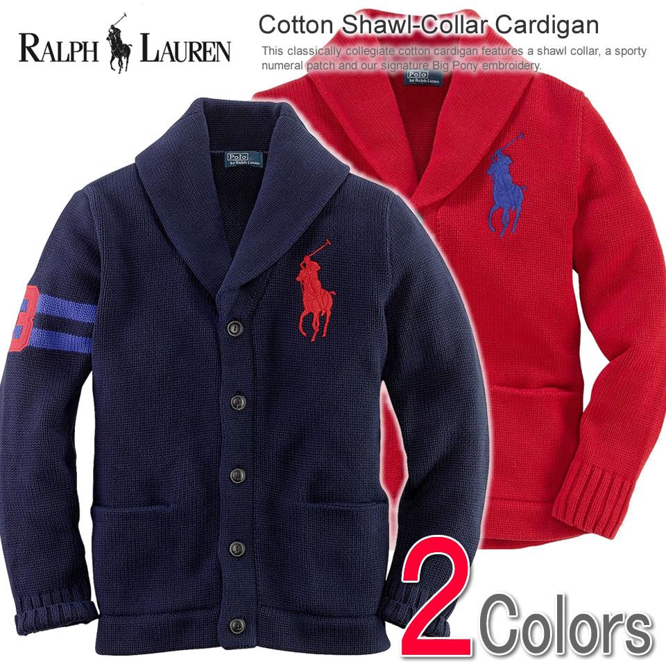 d2cd87acf Polo Ralph Lauren Boys cardigan Cotton Shawl-Collar Cardigan (two colors) ( POLO ...