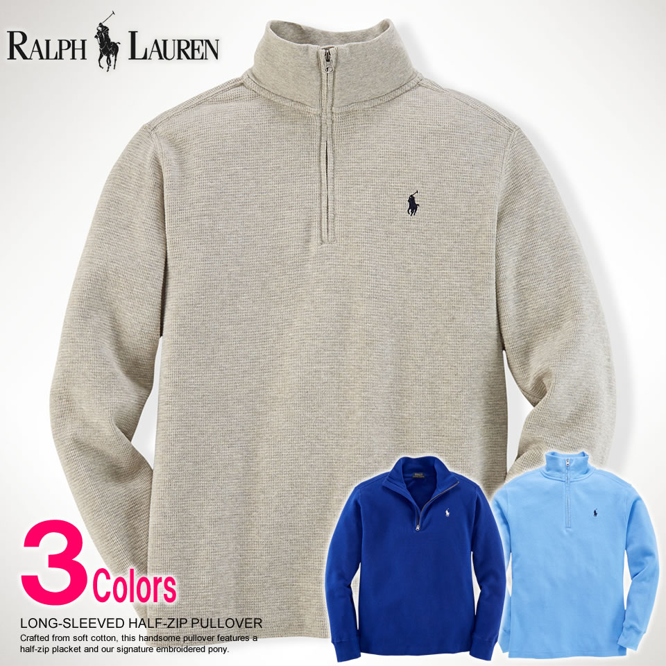 There is the size that is big to a men's cool gift more than polo Ralph Lauren Boys pullover LONG SLEEVED HALF ZIP PULLOVER three colors POLO RALPH