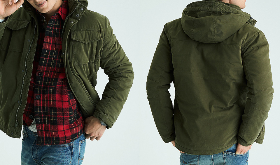 Jacket With Stand Up Collar