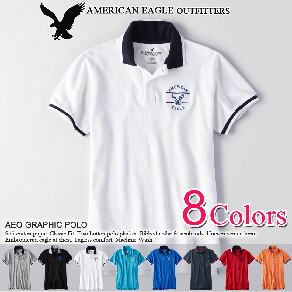 e6eb8179 2 purchase! 2016 new! polo shirts American Eagle mens short sleeve polo  shirt AEO ...