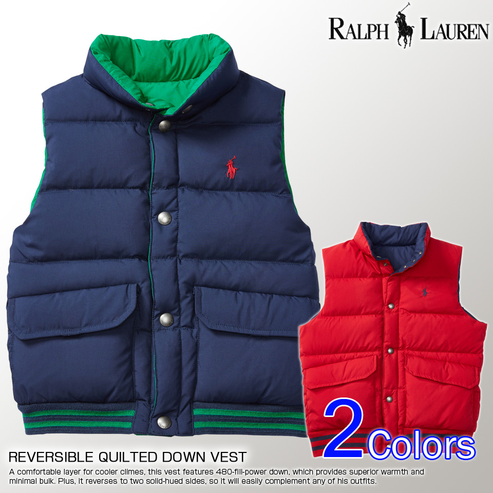 Shushubiz Polo Ralph Lauren Boys Reversible Down Vest