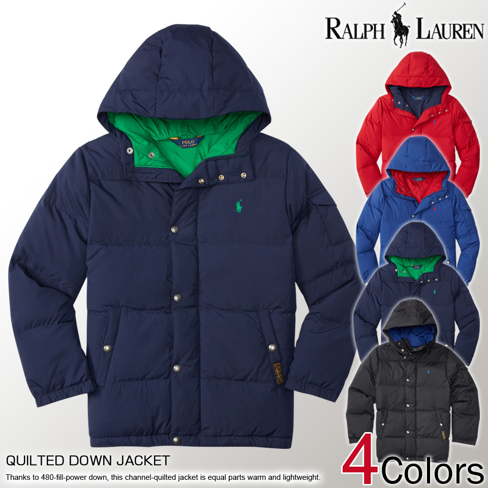 Polo Ralph Lauren boys down jacket QUILTED DOWN JACKET 4 colors, S M L XL,  casual ...