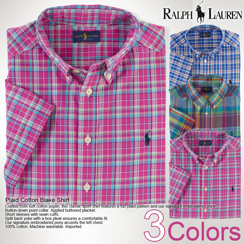 03ba4670a new year 2015! ☆ Polo Ralph Lauren boys cotton shirt short-sleeved PLAID